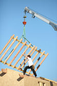 Crane lifting structure — Stock Photo