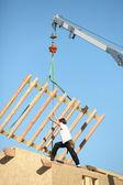 Crane lifting structure — Stock Photo