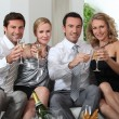Royalty-Free Stock Photo: Couples drinking champagne