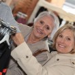 Stock Photo: Mature women shopping.