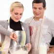 A couple baking — Stock Photo #8010450