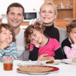 Nice family breakfast — Stock Photo