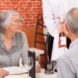 Royalty-Free Stock Photo: Senior couple in a restaurant