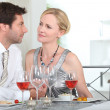 Couple at dinner — Stock Photo