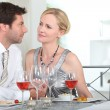 Stock Photo: Couple at dinner