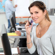 Female operator in a call center — Stockfoto #8012444