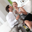 Couple drinking champagne - 