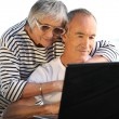 Couple of seniors outdoors — Stock Photo #8013454
