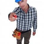 Man showing screwdriver — Stock Photo #8014186