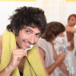 Men in the bathroom — Stock Photo #8014418