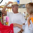 Couple shopping on vacation — Stock Photo #8015031