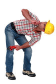 A bended plumber. — Stock Photo