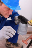 A highly skilled worker — Stock Photo