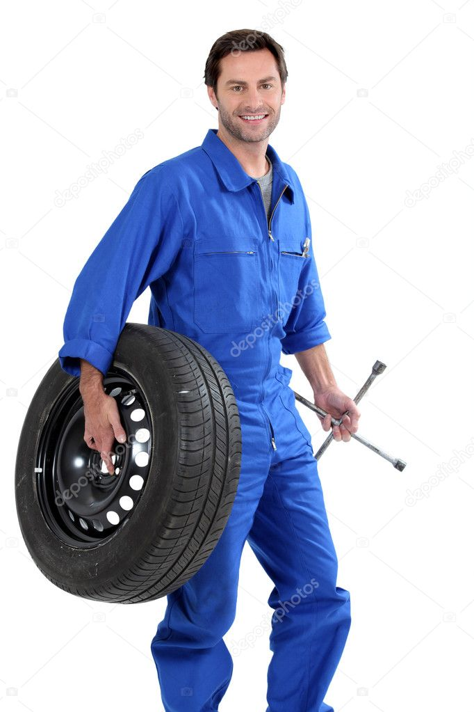 A car mechanic  Stock Photo #8010769