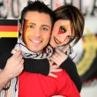 Couple supporting Germany - Stok fotoğraf