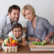 Family in the kitchen — Stock Photo #8029758