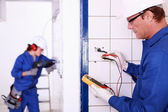 Electricians — Stock Photo