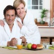 Couple having breakfast — Stock Photo #8031265
