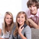 Teenagers on the phone — Stock Photo #8032071