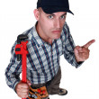 Grim looking worker — Stock Photo #8032724