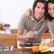 Couple in the kitchen — Stock Photo #8033381