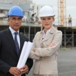 Portrait of two contractors — Stock Photo #8034158
