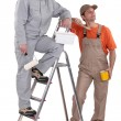 Pair of painters — Stock Photo