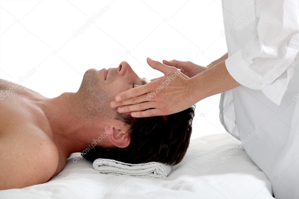 Man having a massage  Stock Photo #8033940