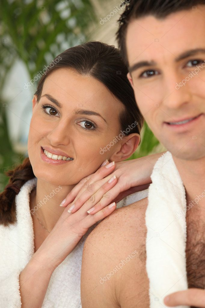 Couple at a spa  Stock Photo #8033994