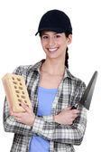 Женский каменщика — Стоковое фото