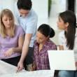 Stock Photo: Group of architects working