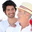 Father and son on holiday — Stock Photo #8050288