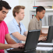 Students using laptop computers — Stock Photo #8050511