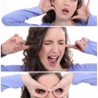 Woman expressions - Stock Photo