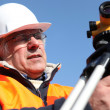 Stock Photo: Mature building surveyor