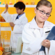 Children doing scientific activities — Stock Photo #8053119
