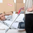 Couple moving home — Stock Photo