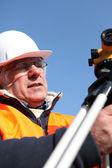 Mature building surveyor — Stock Photo