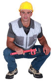 A male plumber. — Stock Photo