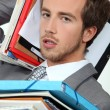 Stockfoto: Male office worker under pressure