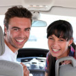 Couple in car — Stock Photo #8062748