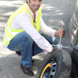 Changing the wheel on a car — Stock Photo