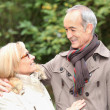 Stock Photo: Old couple in garden