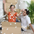 Couple moving into their new home — Stock Photo
