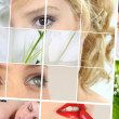 Beauty and wellbeing themed collage — Stock Photo