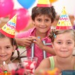 Portrait of children at birthday party — Stock Photo