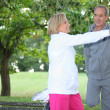 Middle-aged couple jogging — Stock Photo #8065877