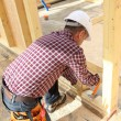 Carpenter doing the doorway. — Stock Photo #8066249