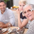 Family meal — Stock Photo