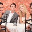 Friends dining — Stockfoto #8067678